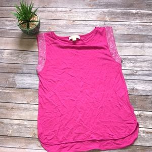 Michael Michael Kors Pink Jeweled Top Size Small